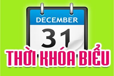 Thời khóa biểu HKII, năm học 2018-2019 (Áp dụng từ ngày 18/02/2019)